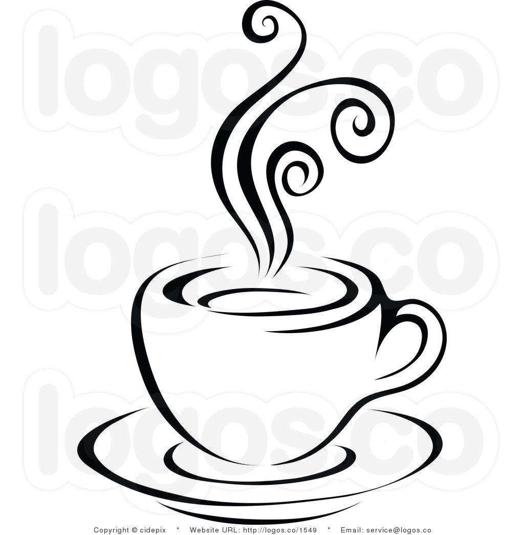 coffee-clip-art-royalty-free-vector-black-and-white-steam-latte-on-plate-logo-by-cidepix-1549