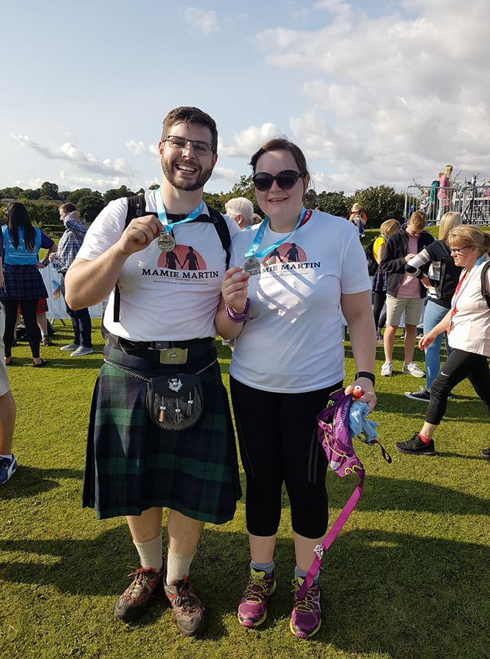 Lynsey and Andrew finishing